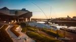 Jardins Musee Confluence Avec Pont Raymond Barre