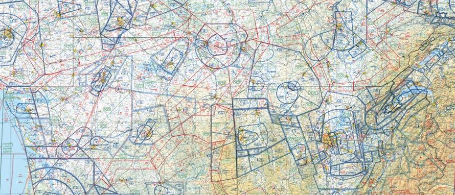 Carte de l'espace aérien