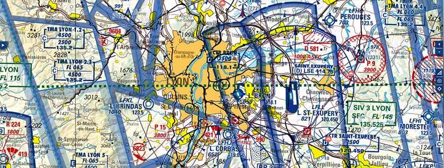 Carte OACI de Lyon