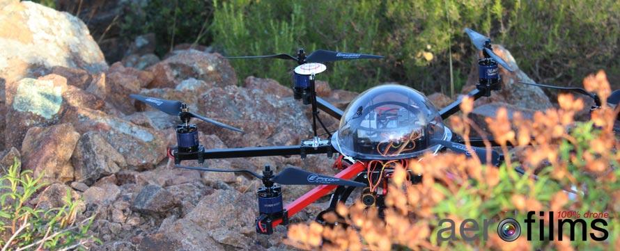 Hexacoptere dans le massif de l'Esterel
