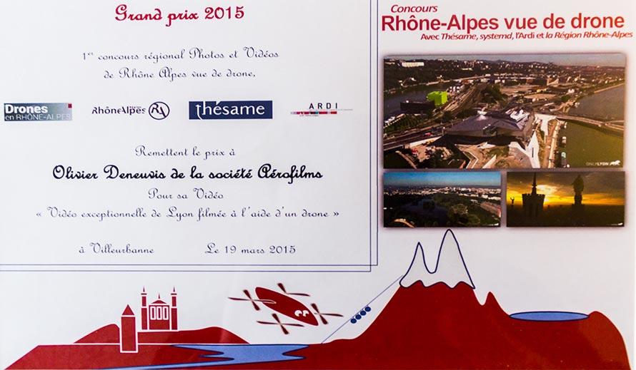 Grand prix du festival Rhône-Alpes vue par drone