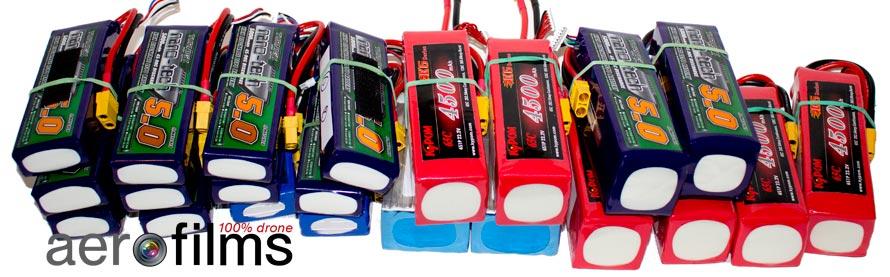 Batteries LiPo pour la prise de vues aériennes avec drone