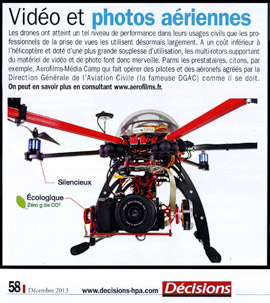 Article dans le magazine Décisions - Aerofilms