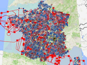 Cartes de l'espace aérien pour les drones