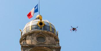 Réalisation d'une vidéo aérienne en agglomération