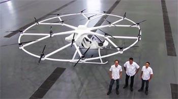 Premier vol d'un drone capable d'emporter un passager